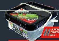 Decking Screws - Timco Pozi Green 4.5x65mm - Tub of 1000