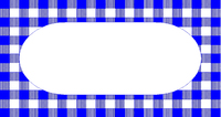 Navy Check Label