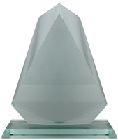 16cm Glass Volcano Plaque (Satin Box)