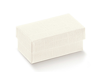 BOX & LID 120X120X60MM IVORY