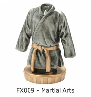 Martial Arts Flex Figure 75mm (Silver & Gold)
