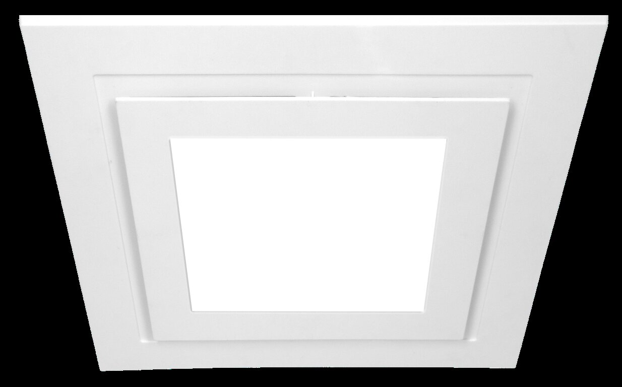 Ventair Airbus 250MM LED Grille Square White
