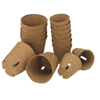 Jiffy Fibre Pot Peat Free Round with Slits 6cm