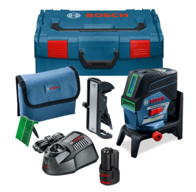 Bosch GCL2-50CG 12V Green Line Seld Levelling Cross Line Laser Level With Bluetooth C/W 1 x 2.0Ah Li-ion Battery & Charger In Box 20mtr Range - 50mtr With Receiver   Compatible With 4 x AA Batteries