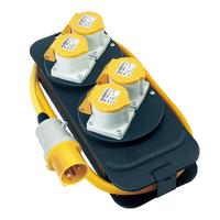 Extension Reel 110v 4 Socket Splitter 2m Flex