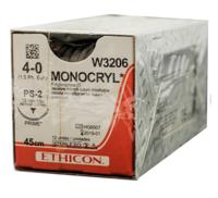 ETHICON - MONOCRYL 4/0 SUTURES W3206