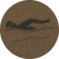 Swimming (25mm Gold Centre)