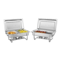 2 Stackable Chafing Dishes 8.5Ltr