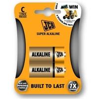 JCB Super Alkaline Batteries Size C 2 Pack