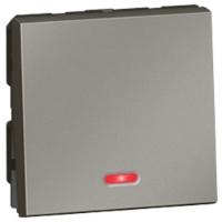 Arteor 20Amp Switch Single Pole 2 Way (With Neon) - Magnesium  | LV0501.2494