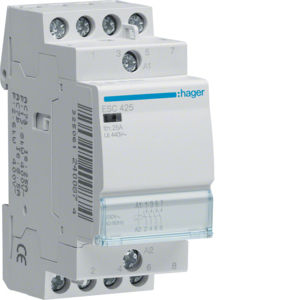 Hager Installation 4 pole NO contactor for distribution board