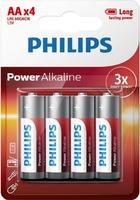 PHILIPS POWER ALKALINE BATTERY AA 24X4