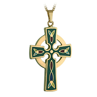GP CROSS PENDANT - GREEN(BOXED)