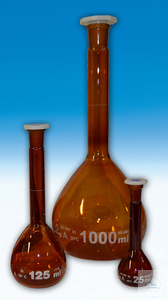 Amber Volumetric With Glass Stopper 250M