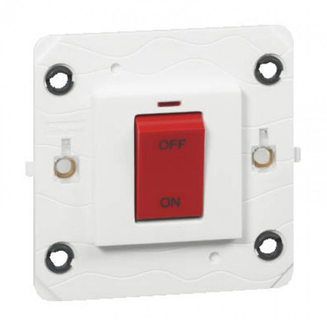 Legrand Arteor 45A Small Cooker Switch with Neon