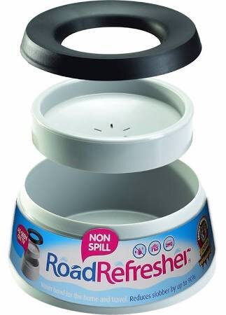 Road Refresher Large Non-Spill Dog Bowl - Grey x 1