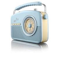 AKAI RETRO 2 BAND RADIO BLUE