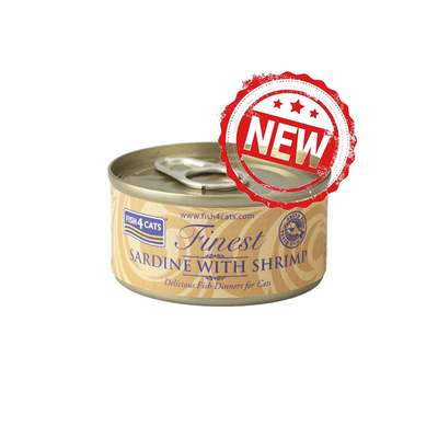 Fish4Cats Cans Sardine with Shrimp 70g x 10