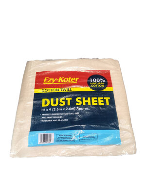 Dust Sheet 12ft X 9ft Laminated Cotton