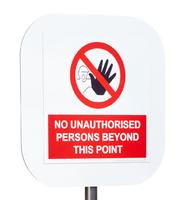 UniPole Aluminium Bespoke Printed Sign - 400mm x 400mm