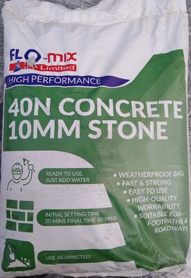 Flo-Mix 40N Rapid & Strong Concrete Drymix 20Kg bag (add water)