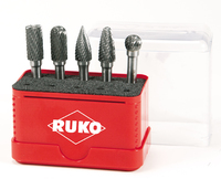 Ruko 5Pieces Set TC Rotary Burrs 10mm