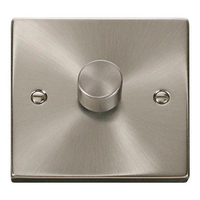 Click Litehouse DECO 1G 2Way 400W Dimmer Switch Satin Chrome