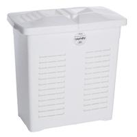 Wham Laundry 75L Rectangular Hamper Ice White