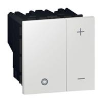 Arteor 2 Module Dimmer Square (0-10V) - White  | LV0501.2443