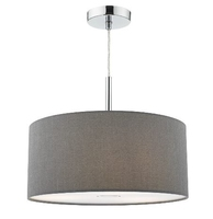 Ronda 40cm 3Light Pendant Slate Grey, Compelte with Diffuser | LV1802.0090