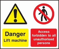Lift Safety Sign LIFT0001-0795