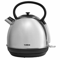 TOWER STAINLESS STEEL DOME KETTLE 1.7 LITRE