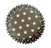 BC732 BROWN POLKA DOTS STD CUPS 60PK