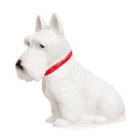 Heico children's lamp - white scottie dog with red collar