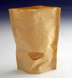 70g Kraft stand up pouch.