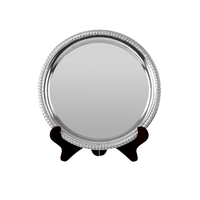 20cm Swatkins Heavy Round Nickel Plated Tray
