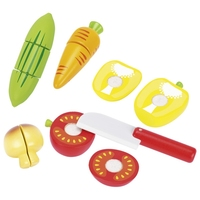 Wooden Vegetables with Velcro