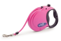 Ancol Viva Extending Lead - Small Raspberry Pink x 1