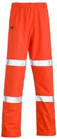 Bisley Stretch PU Taped Rain Overtrousers Orange