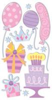 Birthday Icons Girl  Essential Craft Sticker.