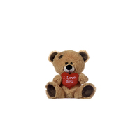 "BEAR 8""/20CM BROWN BEAR WITH ILUH (1PC)"