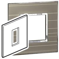 Arteor (British Standard) Plate 1 Module 1 Gang Square Formal | LV0501.0188