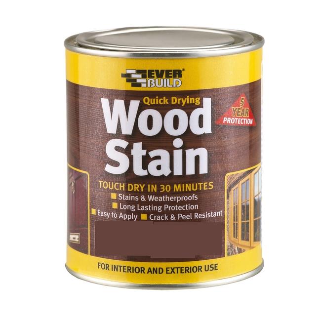 Everbuild Woodstain Satin 5 Year Maintenance Clear Coat 750ml
