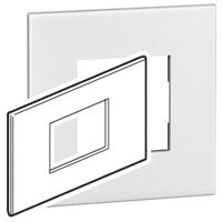 Arteor (British Standard) Plate 3 Module Square White   LV0501.0099