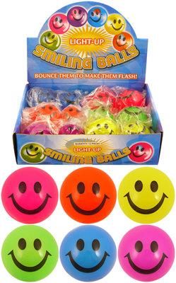 Light up Smile Ball 5cm. (CDU of 12)