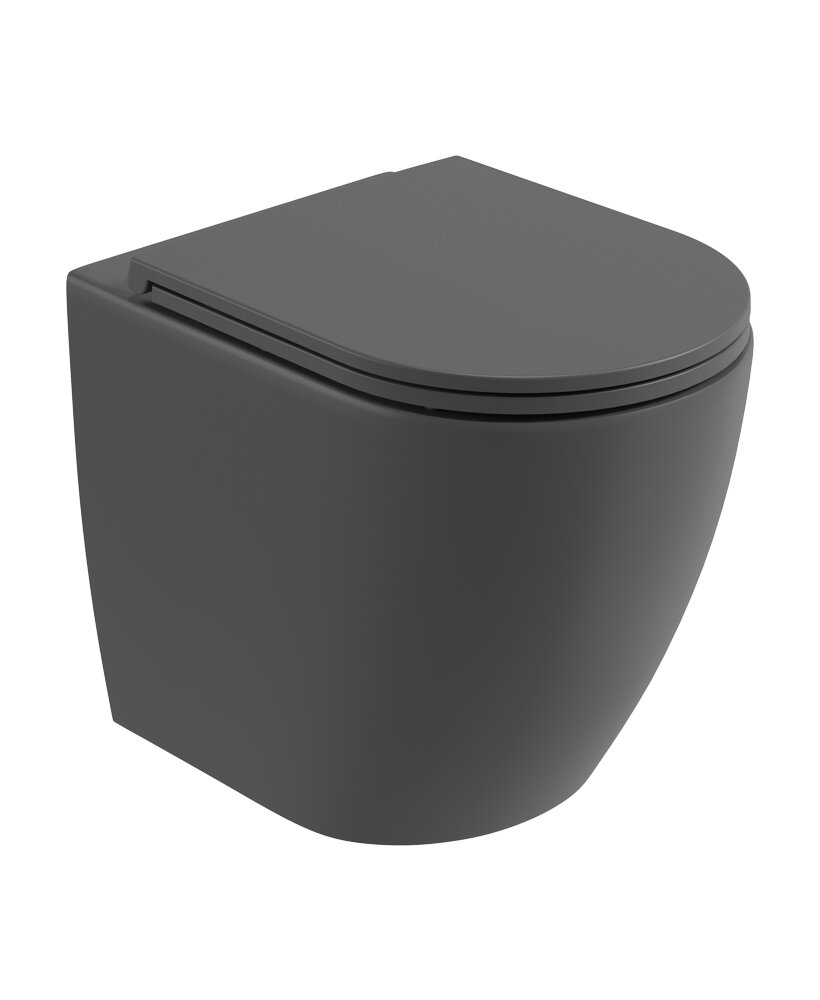 ALVAR BACK TO WALL RIMLESS WC & SEAT - C