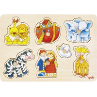 Noah's Ark Wooden Peg Puzzle for toddlers