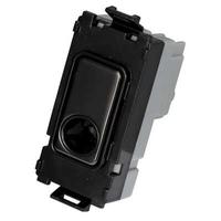 Schneider Ultimate Screwless Grid Black Nickel Flex Outlet|LV0701.1100