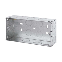 2 Gang 35mm Metal Socket Box