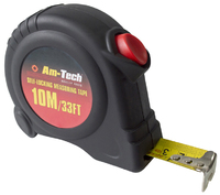 Amtech 10m X 25mm Self Locking Measuring Tape